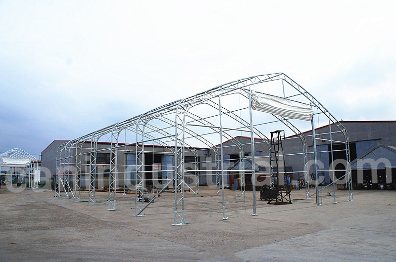 Storage building tent 40 x 60 x 21 feet can industrial for Shed construction cost estimator
