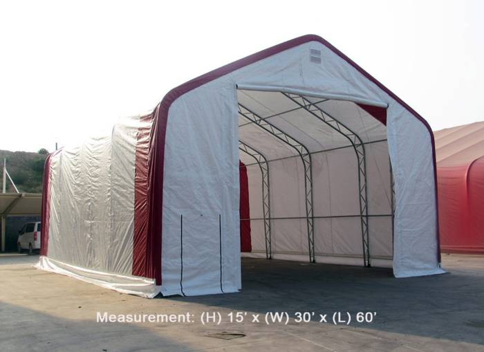 storage building shelter truss