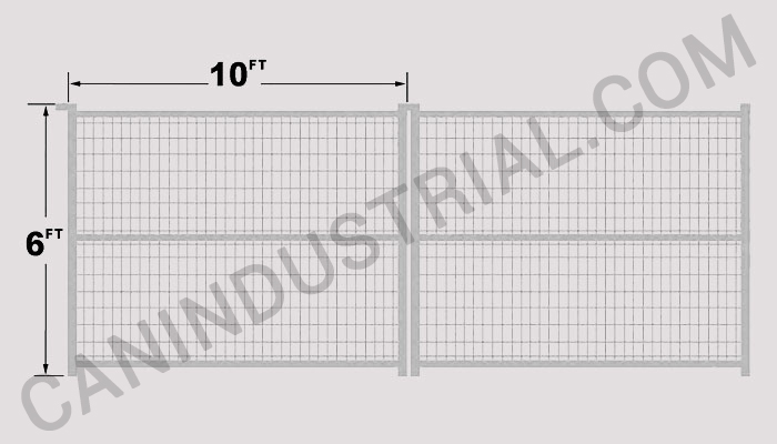 Commercial fence panel feet galvanized can