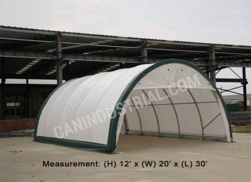 Storage Building Shelter Dome 20 'x 30 'x 12' (300 PE Fabric)