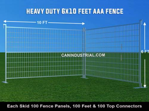 6 x 10 Feet AAA Hot Dipped Galvanized Temporary Fence Panels