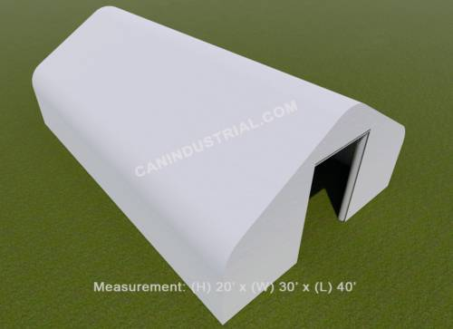 30' x 40' x 20' Storage Building Shelter Double Truss (450 GSM Fabric)