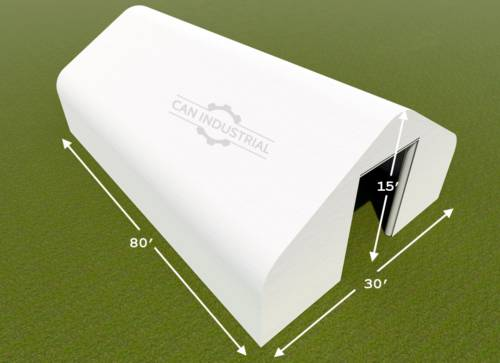 30' x 80' x 15' Storage Building Shelter Double Truss (450 GSM Fabric)