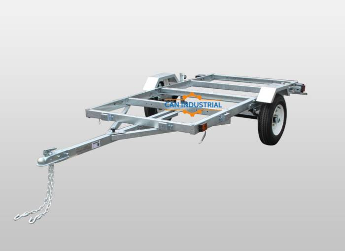 4' X 8' Galvanized Folding Trailer