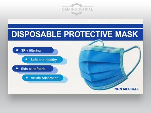 Multi Purpose 3 Ply Disposable Protective Mask