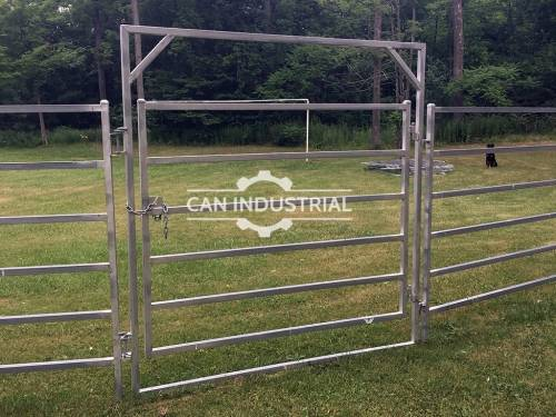 Galvanized Cattle Man gate for Cattle Yard