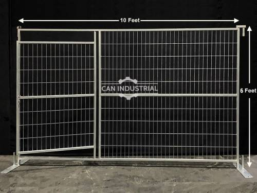 6 x 10 Feet Galvanized Temporary Fence Man Gate Panel