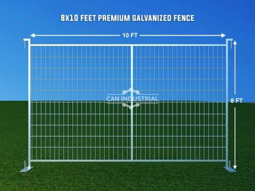 8 x 10 Feet Premium Galvanized Temporary Fence Panels