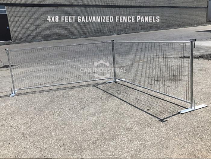 4 x 8 Square Tube Galvanized Standard Temporary Fence Panel